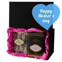 Луксозен подаръчен комплект с чай Амброзия и захарни бъркалки