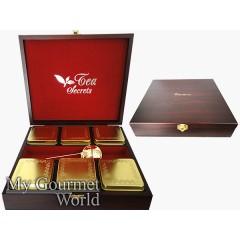Дървена кутия с 6 кутии по 0.050 кг. - злато
