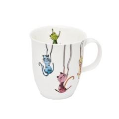 "Порцеланова чаша за чай ""Котки"" - 0,4"