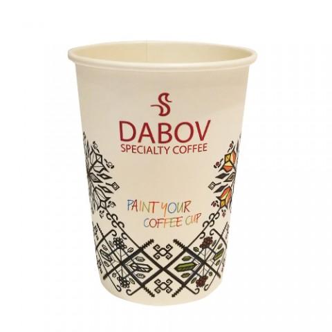 Картонена чаша за кафе  лате - 350 мл - 10 бр